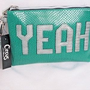 Circus Sam Edelman Yeah Green Wristlet Clutch Bag